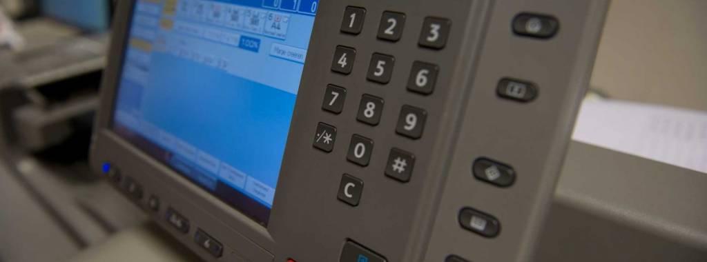 Bedieningspaneel digitale drukpers